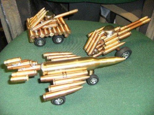 Сувениры из настоящих патронов АК-47
