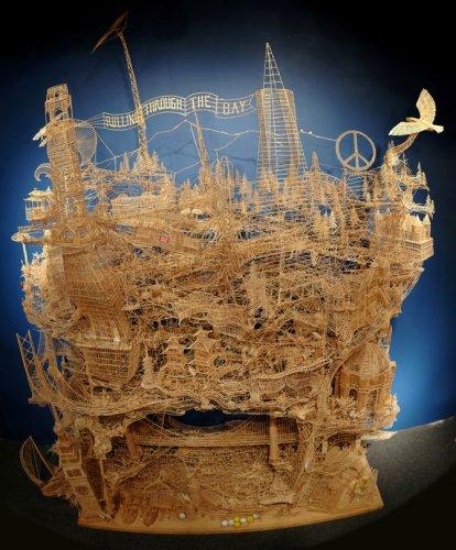 Скульптура из 100000 зубочисток