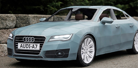 Бумажный дойник Audi A7