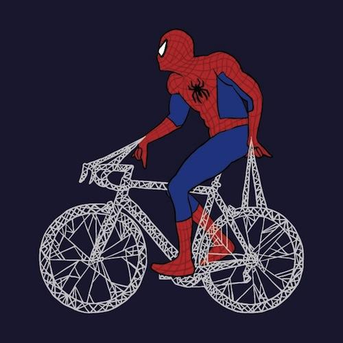 Герои комиксов на велосипедах