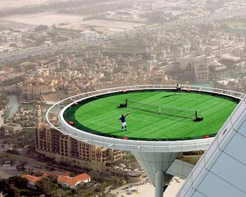 Самый высокий теннисный корт в мире