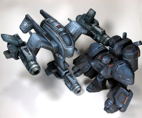 Бумажные модели юнитов из Starcraft 2