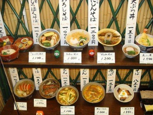 Пластиковая еда в ресторанах Японии