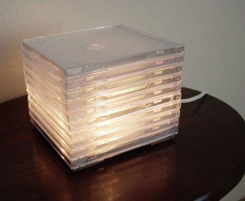 Креативные предметы из коробок для дисков