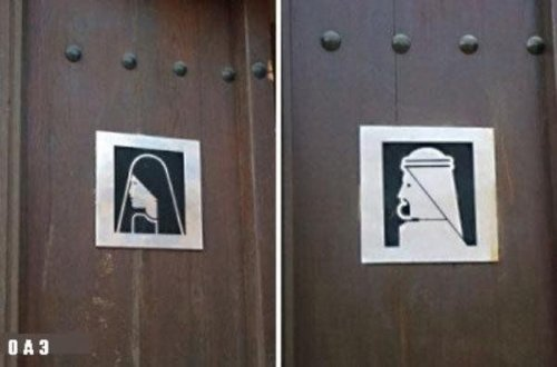Забавные таблички WC из разных стран мира