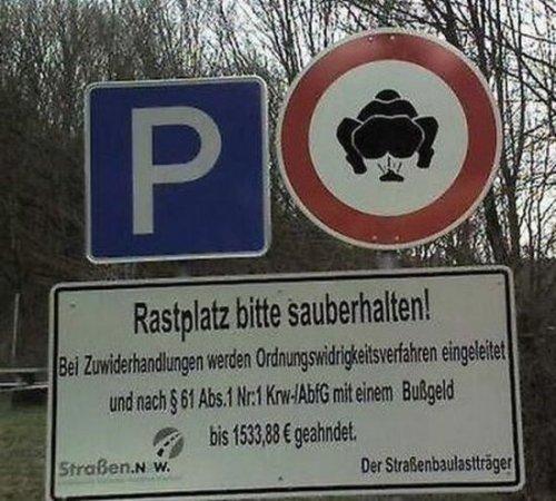 Прикольные запрещающие знаки