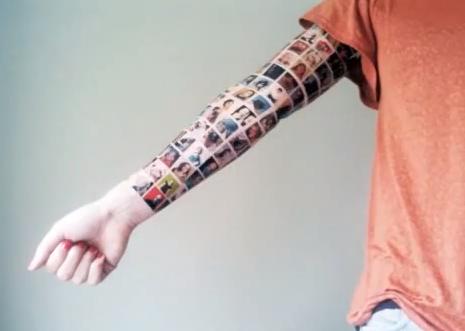 Татуировка с друзьями с facebook