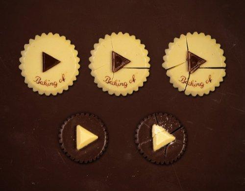 Веб-сайт из шоколада