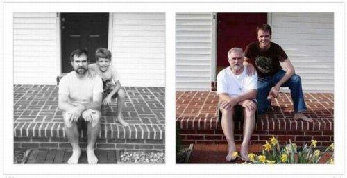 Фотопроект тогда и сейчас