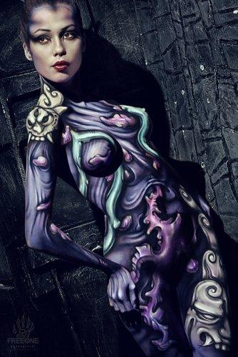 Боди-арт от Evgeny Freeone