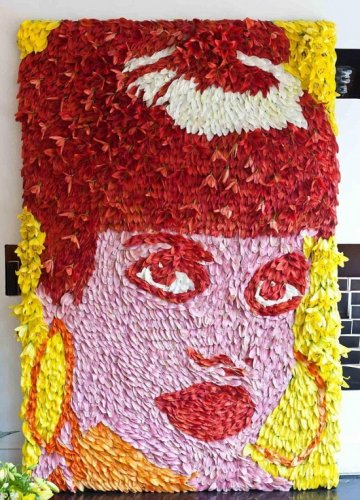 Портрет из лилий