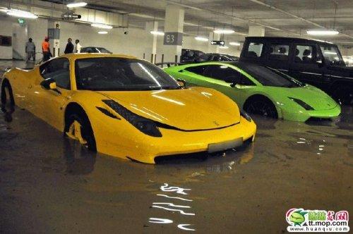 Утопленные автомобили