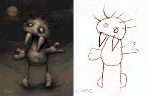Детские рисунки от Дэйва Девриса