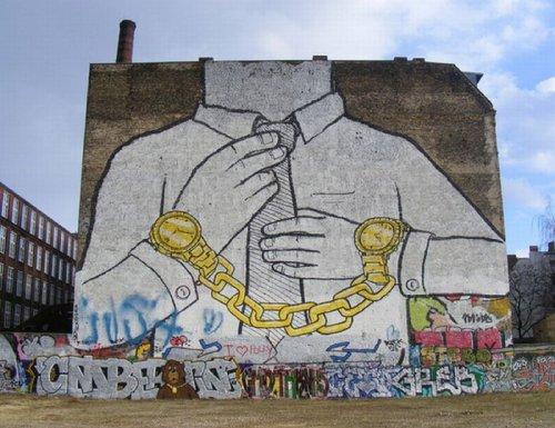 Уличное искусство от BLU