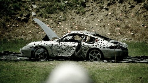Вооруженные люди расстреляли Porsche 911