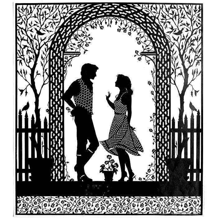 Черно-белые открытки о любви