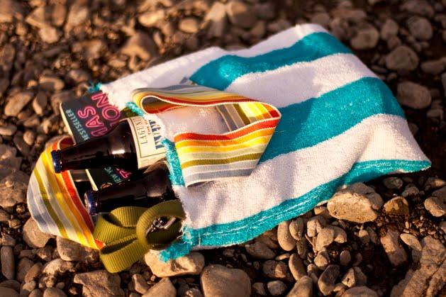 125 Мастер класс: как сделать пляжную сумку на лето из старого полотенца.
