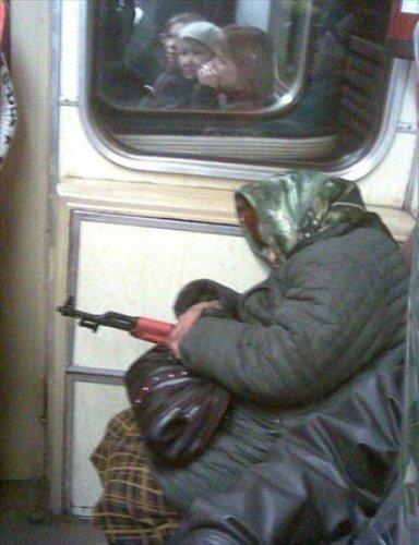 Забавные люди в метро