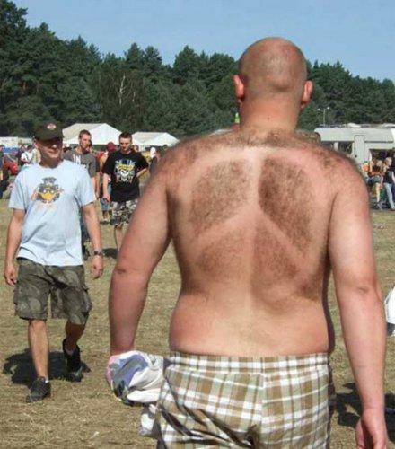 Узоры на спине
