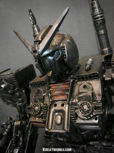 Боевой робот в стиле стимпанк