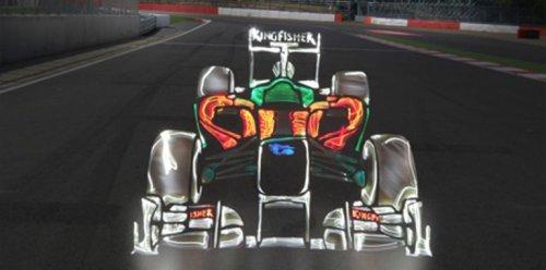 Световые граффити машин Формула-1