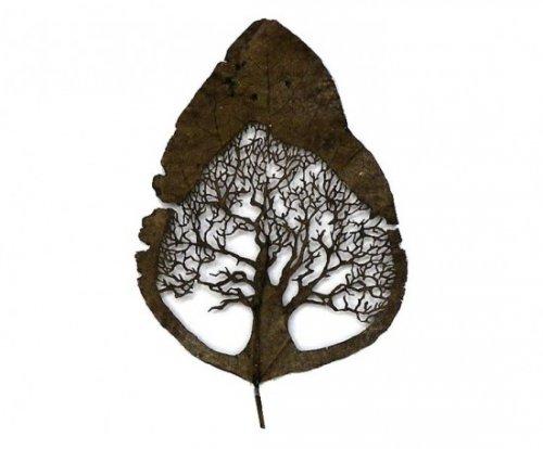 Миниатюры из листьев