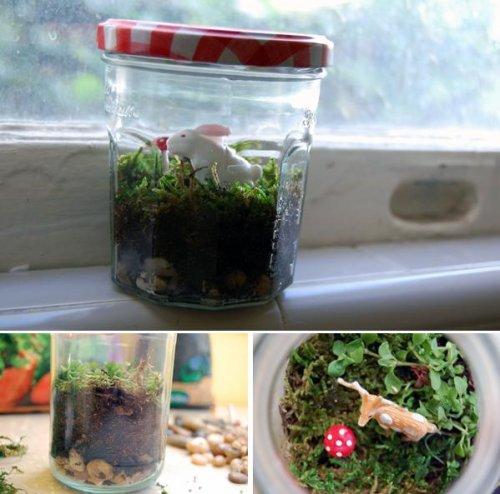 Что можно сделать из стеклянных банок