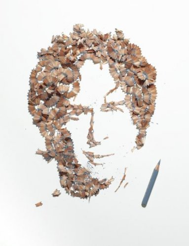 Портреты из карандашной стружки