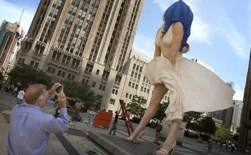 Мэрилин Монро в центре Чикаго