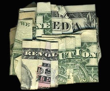 Оригами со смыслом из долларовых купюр