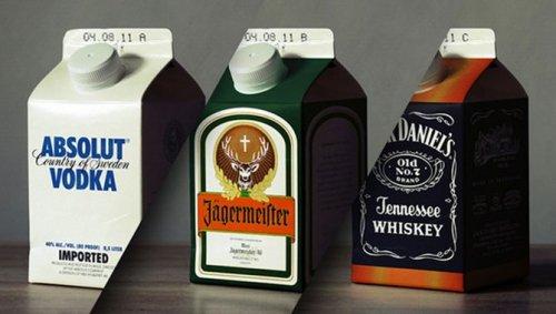 Алкоголь в картонных упаковках