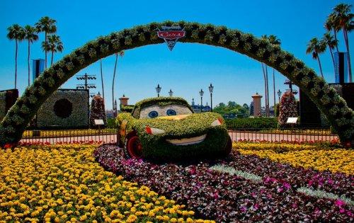 Цветочный фестиваль в Диснейленде