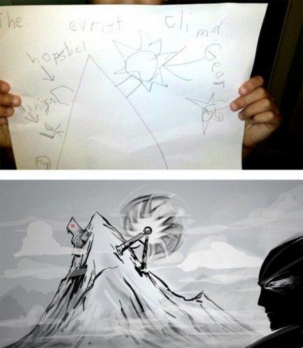 Дети VS художник