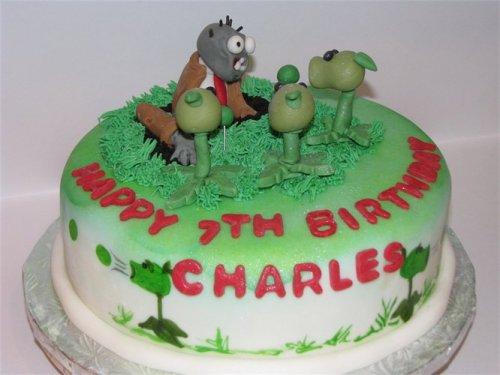 Креативные торты - зомби против растений