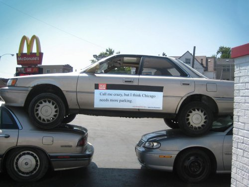 Креативная реклама на автомобилях
