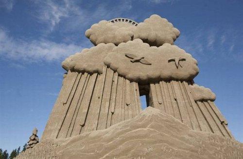 Красивые скульптуры из песка