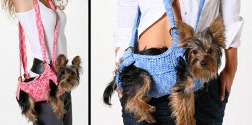 Прикольные сумки-переноски для собак