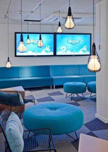 Веселый офис Skype в Стокгольме