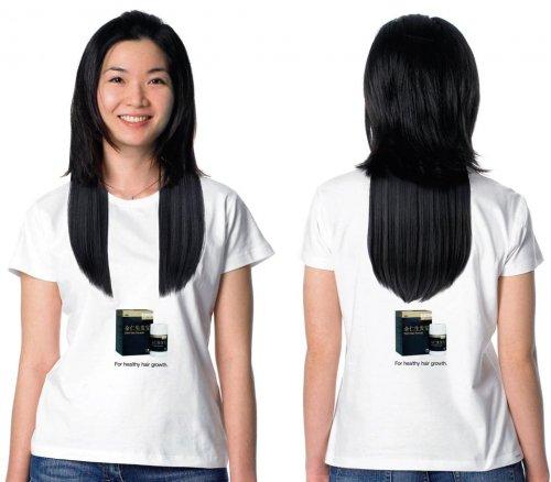 Креативная реклама с волосами
