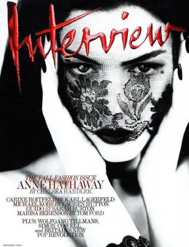 Энн Хэттэуэй для обложки сентябрьского номера журнала Interview Magazine