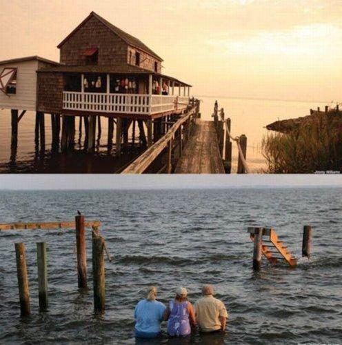 До и после урагана Ирэн