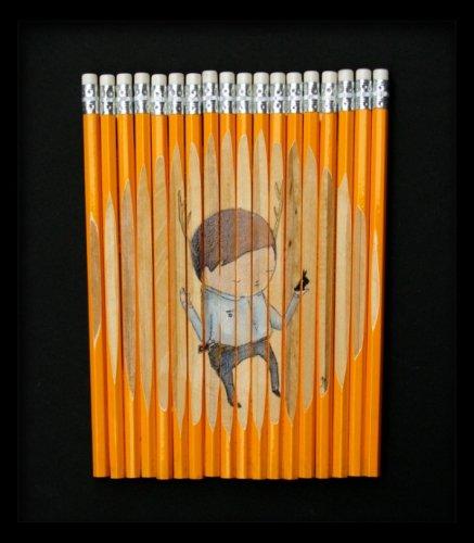 Рисунки на карандашах