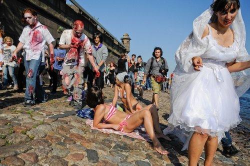 Парад Зомби в Питере