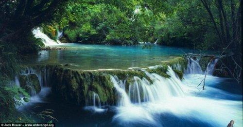 Восхитительный водопад в Хорватии