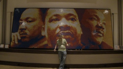 Мартин Лютер Кинг из кубиков Рубика