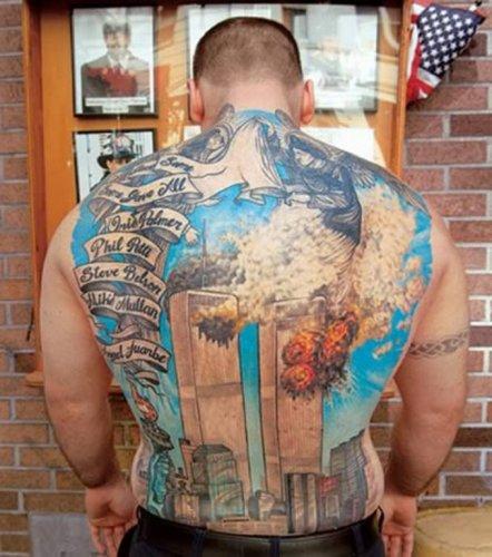 Татуировки, посвященные 11 сентября 2001