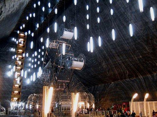 Соляная шахта для съемок фильма «Возвращение Темного рыцаря»