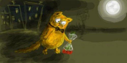 Веселые рисунки про котэ