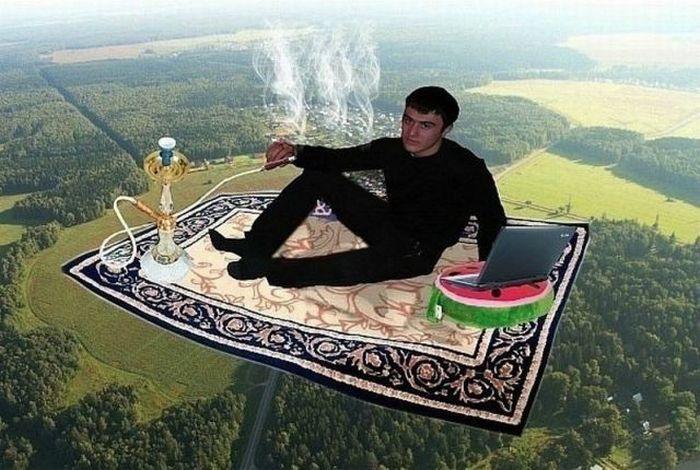 Ковер самолет смешные картинки
