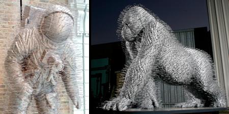Скульптуры из вешалок